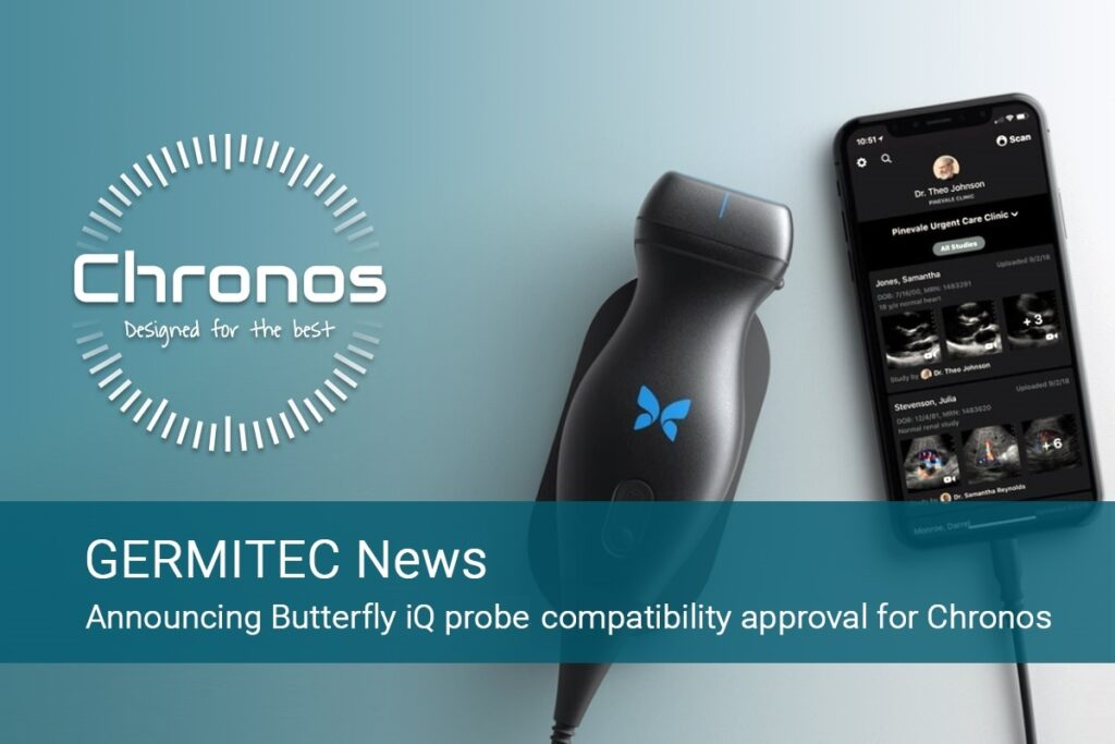 Butterfly iQ probe compatible with Hypernova Chronos